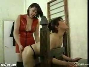 Anime Lesbian Sex Slave Handcuffs - Hot dominatrix ties up her sex slave and tortures her hot milf