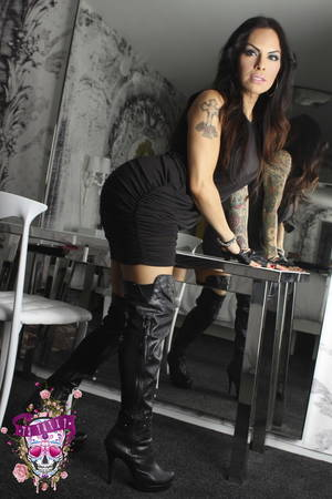 horny leather shemales - Leather boots tranny