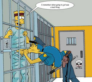 Jail B Owjob Porn Captions - The Simpsons artwork from Fear