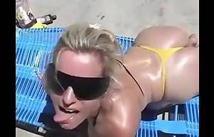 facial on the beach - MILF take a facial on the beach