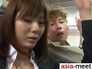 asian bus - Asian chick gets groped on a bus