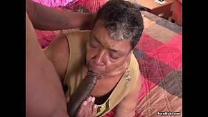 black granny anal creampies - Ebony grandma loves big black cock