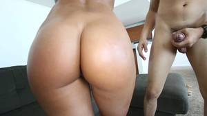 Fine Booty Porn - Stunning big booty XXX model riding a fine dick on the couch