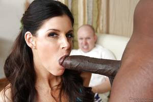 indian porn big tits sucking cock - ... India Summer sucks and fucks a big black cock while a white guy  watching ...