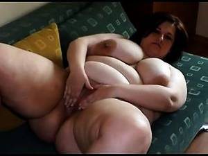 chubby mature striptease - Fat Young Woman With Big Tits Stripping And Playing