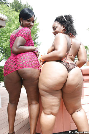ebony bbw vids - Fatty ebony babes Kiwi and Brownii showing hot asses and boobs outdoor ...