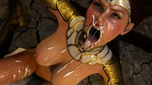 big tits cum hentai - Extreme cartoon BDSM deepthroat with big cock and cum in mouth