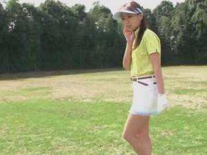 Golf Asian Brunette Porn - Subtitled HD Japanese nudist golf practice outdoors