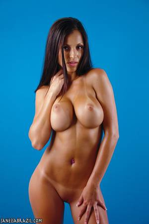 Brazilian Fake Tits - Teen-Curvy-Shaved-Brunette-Babe-Janessa-Brazil-with-