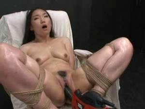 granny shemale fuck machine - Hot Asian girl bound and fucked with fucking machine