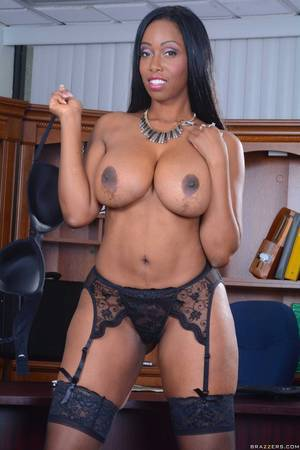 black porn star america - America Moore in black stockings stripping in the office.