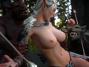 Elf Monster Porn - Ghast with a thick 3D monster cock bangs an Elven slut