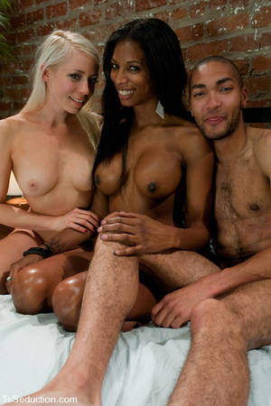 exotic black shemales - Black shemale has unthinkable sex with a blonde and an exotic guy with  tight ass