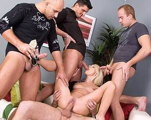 gang bang handjob - Private HD porn video: Lena Cova Gangbang Facial Party