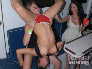 bald nudist party - Drunk party girlfriends flash their asses then lick each others bald  snatches