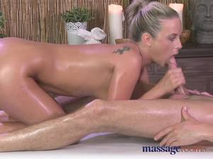 Big Cock Cum Massage - Massage Rooms Sweet sensual blonde has intense orgasm from big cock