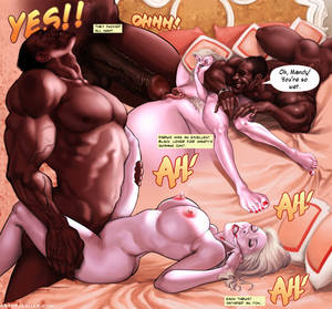 free interracial cuckold cartoons - Cuckold porn comic about big Black dude Darius fucking his best friends  blonde wife in interracial