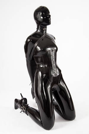 latex bondage self metal -