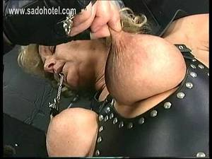 mature big nipples tied scared - Tied slave with big boobs got her nipples twisted and metal clamps with  heavy weight on them - XNXX.COM