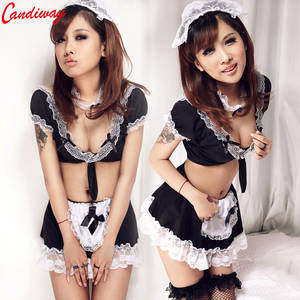 Costume Porn - Sexy Maid Clothes Lolita Maid Outfit Black Lace Hot Sexy Lady Uniform  temptation sexy costumes porn