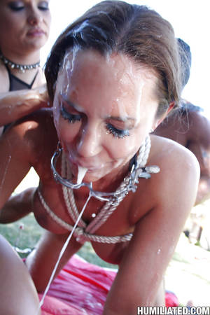 dirty cougar slut sky taylor - ... MILF babe Sky Taylor fucking in bondage with loads of bukkake ...