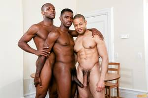 giant blacks cocks group - Three Black Guys Playing Strip Dominoes With Their Big Black Cocks