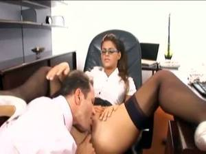 beautiful secretary fucking - Pretty secretary fucked in stockings and a garter