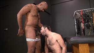 Interracial Gay Men Anal Creampie - Hairy Pup Taking Raw Interracial Daddy Loads Bareback · Nuttybutt Gay Porn  ...