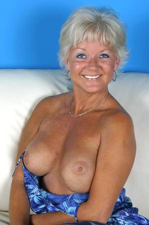 good granny tits - ... Tanned granny Marcial gives a great show in the living room with her  huge round tits ...