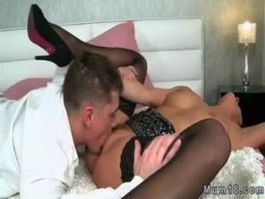 bed banging - Milf In Sexy Lingerie Banging In Bed