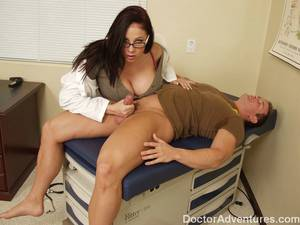 gianna michaels handjob cumshot - ... Busty doctor Gianna Michaels helps her patient with her tight pussy ...