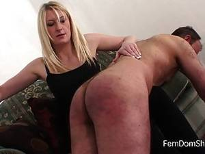 f m naked spanking - Extreme Over The Knee Spanking - Femdom