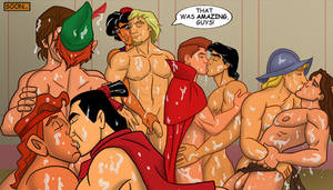 Disney Heroes Gay Porn - Drawn To You: Aladdin's Explosive Gay Disney Orgy