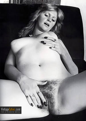 70s boobs movies - ... Horny blonde grabbing her soft boob and touching her fuzzy vagina retro