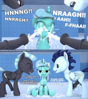 Mlp Lyra Porn - e621 3d_(artwork) big_penis clenched_teeth comic cum cum_everywhere  cum_on_body cum_on_face cumshot dialogue digital_media_(