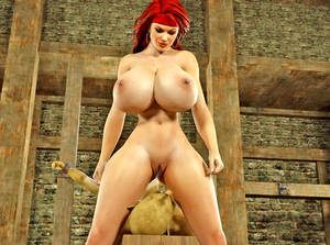 busty redhead anal roxette - ... picture #3 ::: Naughty redhead busty chick fucking tied horny monsters  - xxx