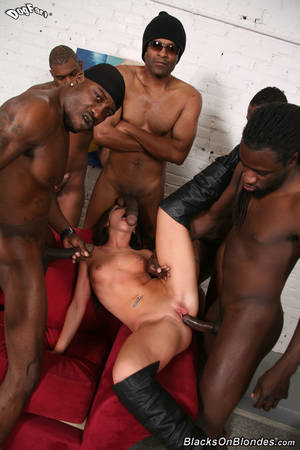 her black gangbang - Last year young black dick gang bang anal moment for