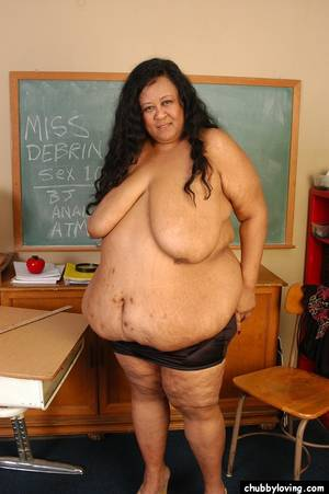 big fat floppy tits - ... SSBBW Latina teacher Debrina baring incredible saggy boobs and fat  rolls ...