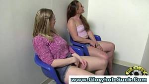 2 Girls Watching Porn Together - Two hot gloryhole sluts