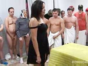 50 men gangbang - Gangbanged and Jizzed on by 30 men
