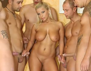 gang bang handjob - An image by Shame85: busty gangfuck slut | Tagged by users as: blonde gangbang  handjob ...