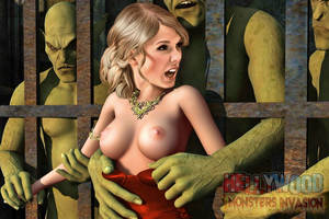 3d Celebrity Monster Porn Animated - Good- looking ladies abused by horrible orcs and monster cocks. Roughest  and craziest porn