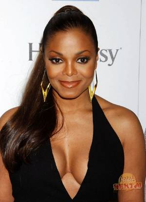 Janet Jackson Porn - Sexy photos of black diva Janet Jackson wearing revealing dress, bikini and  palming her tits