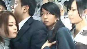 asian bus - Looking at an Asian School Girl's Panties Upskirt in a Crowded Bus