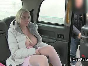 Blonde Taxi Porn - Huge boobs blonde fucking in fake taxi anal