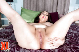 huge bbw solo - Solo babe Allie Pearson shows fat body and fingers bald pussy -  PORNSTILL.COM