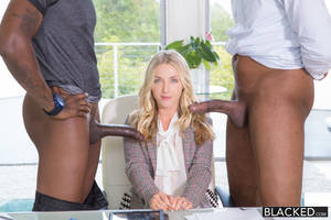 Black Cock Anal Blonde - And entertainment monster black cock anal interracial