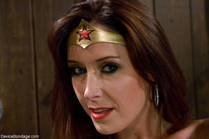 High Resolution Wonder Woman Reality - ... Christina Carter plays Wonder Woman during kinky Device Bondage porn  shoot ...
