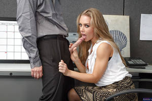 busty secretary blowjob - ... Glamorous secretary Nicole Aniston gives a deep blowjob in the office  ...