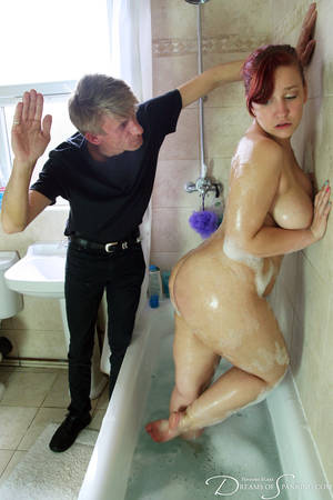 fresh spanked ass - Mila Kohl spanked in the bath at Dreams of Spanking ...